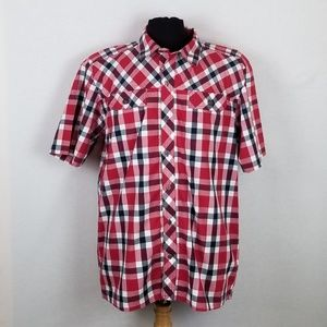 Under Armour Men's XL Button Down S/S Shirt Red